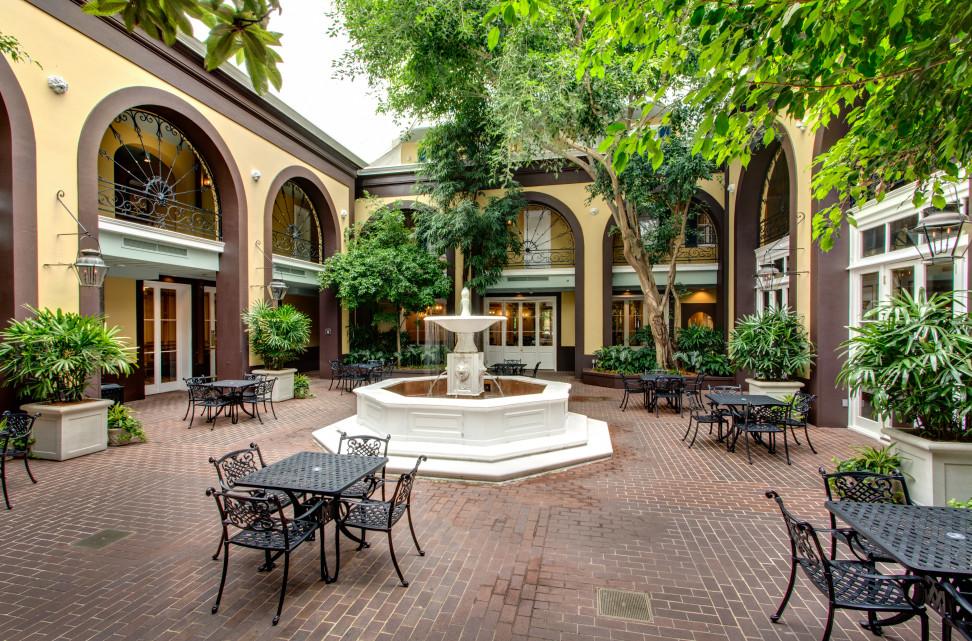 main courtyard at the Hotel Mazarin