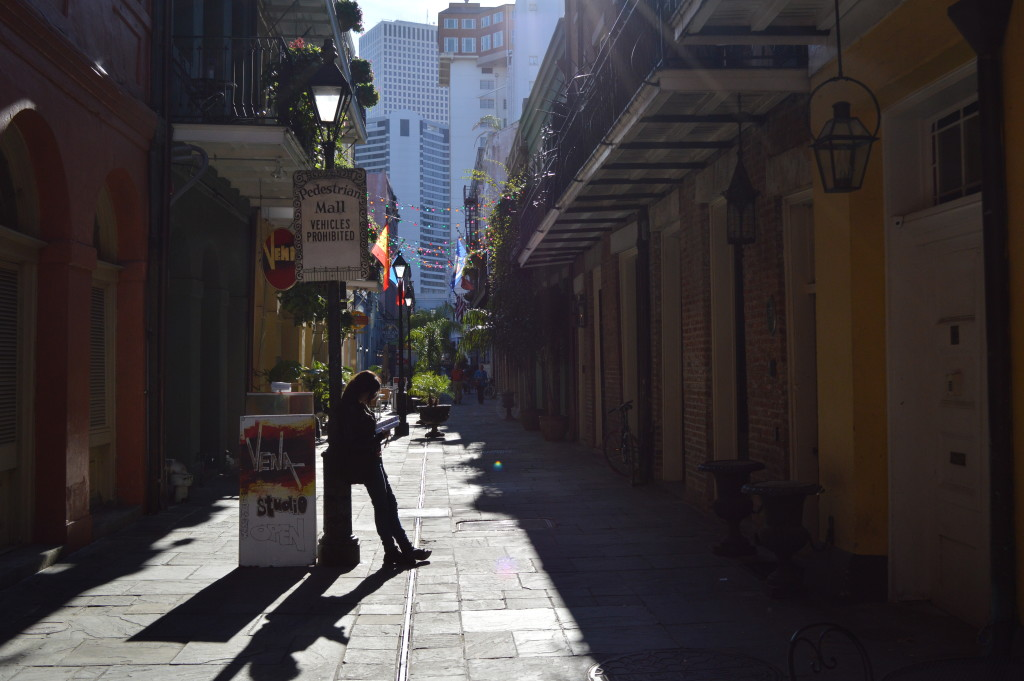 on assignment in the french quarter in new orleans