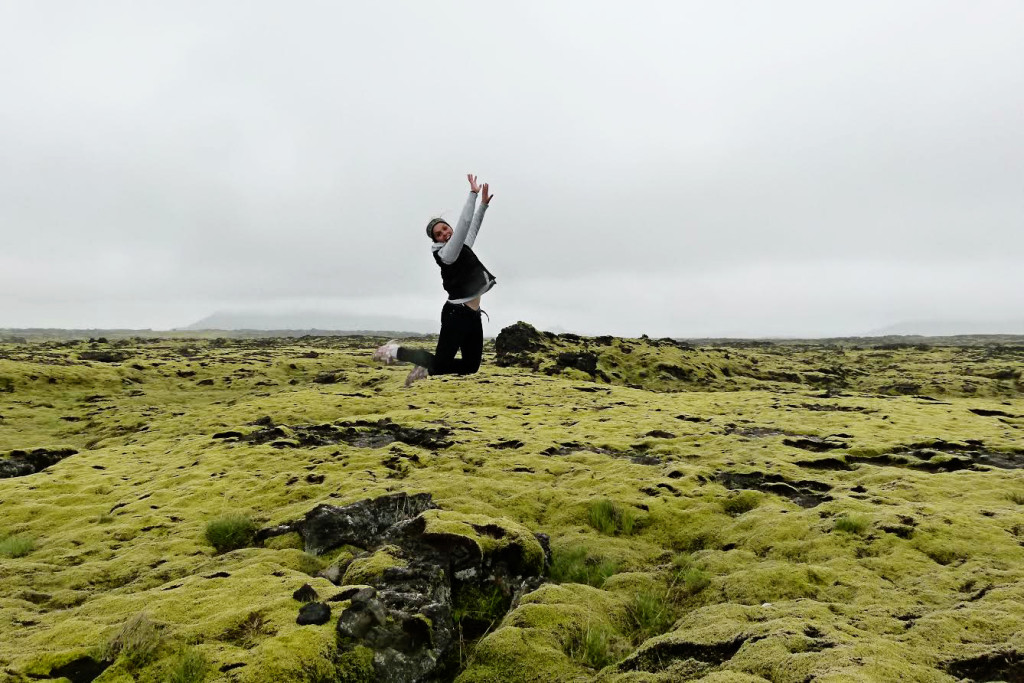 Jumping in Iceland