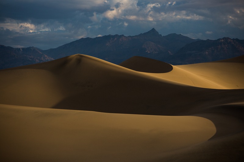 Mesquite Flat Dunes in California's Death Valley National Park.