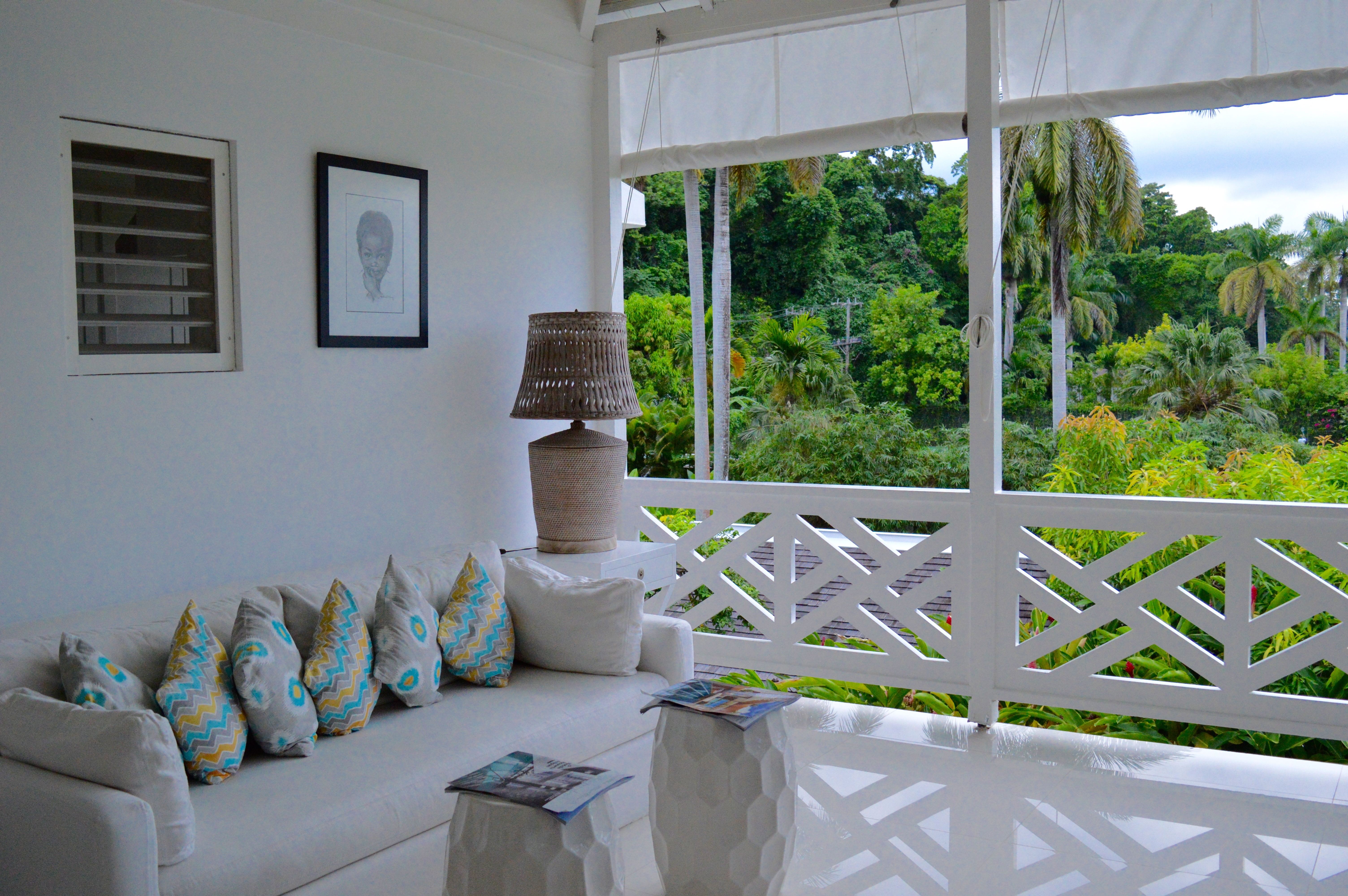 Checking into the Round Hill Resort in Jamaica