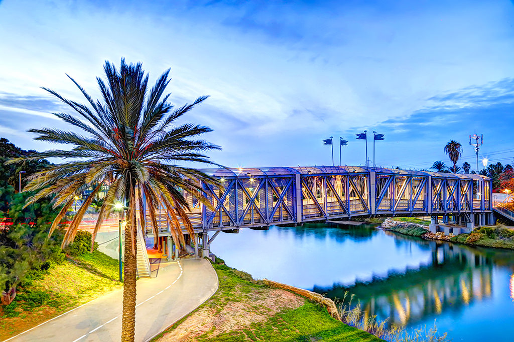 January 25, 2014 - Bridge at Yarkon Park in Tel Aviv, Israel (Copyright © 2014 tonykinkela.com)