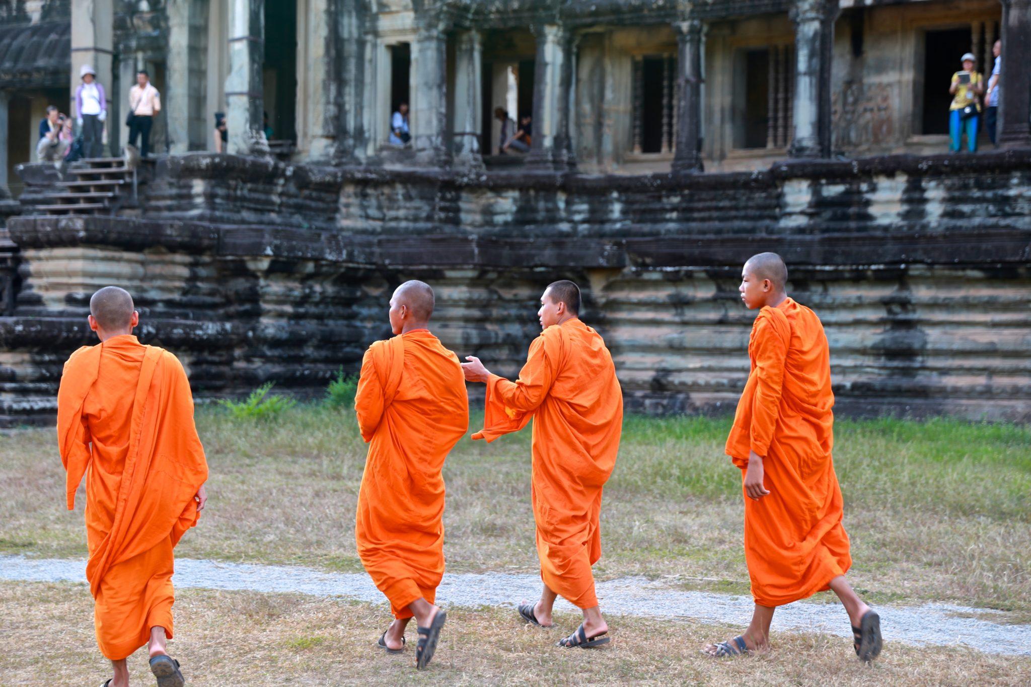 Buddhist Monks Angkor Wat