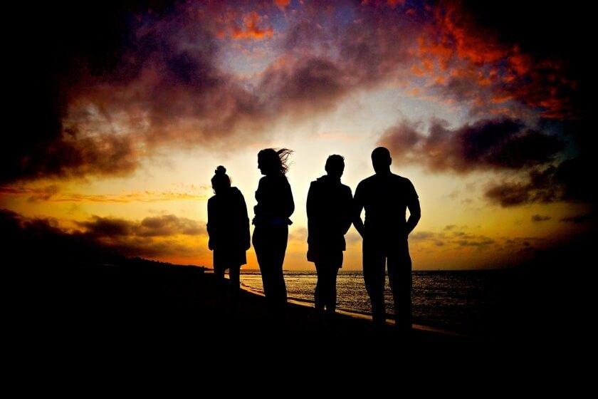 group-travel-sunset