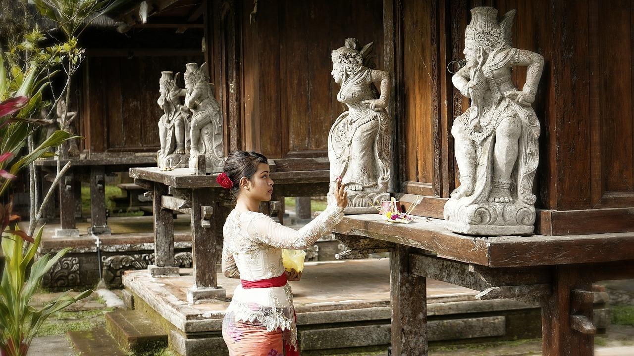 balinese ceremony, bali, indonesia