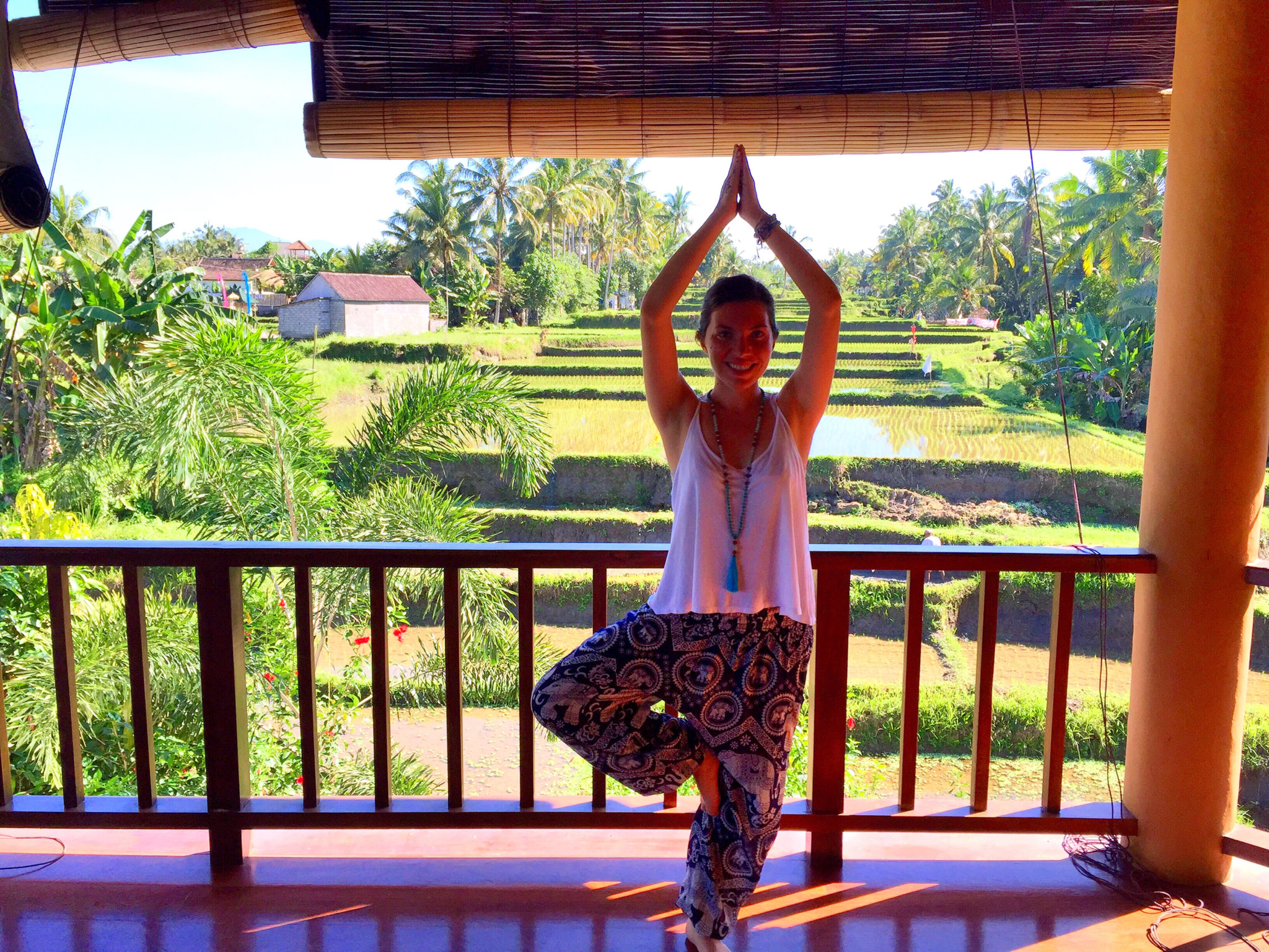 Yoga pose at Ubud Yoga House in Bali | © Nikki Vargas