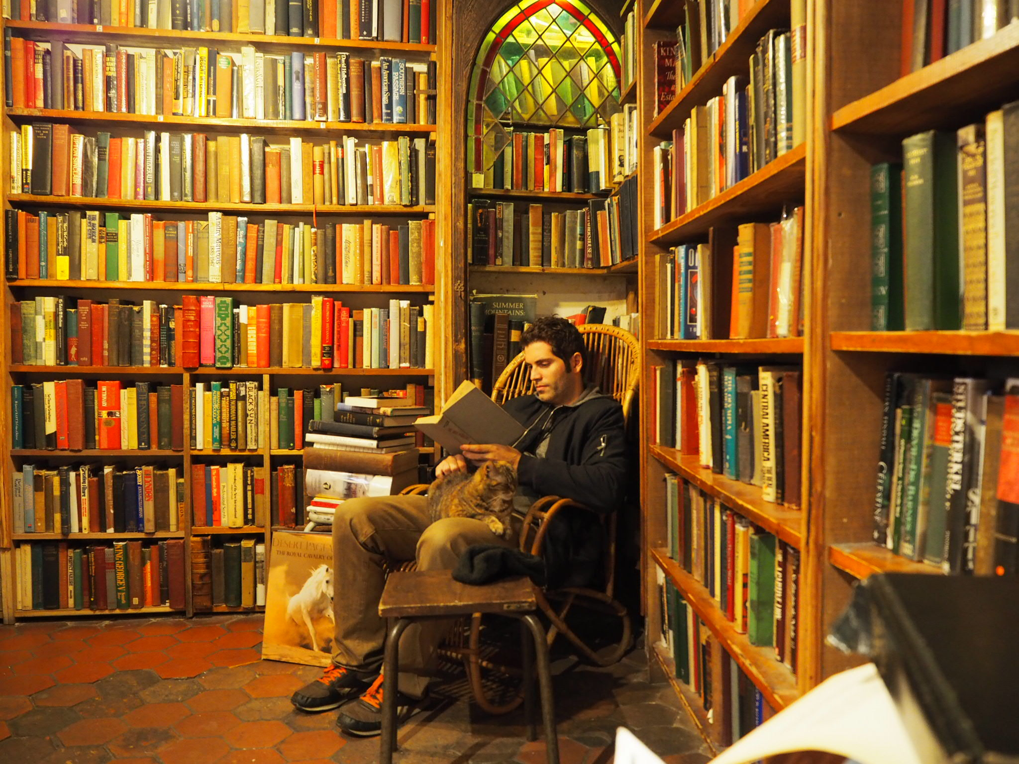 Jeff and Agatha at Shakespeare and Company, Paris